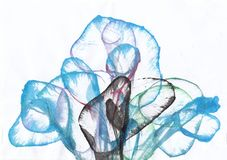 Art Abstract Flowers illustration stock