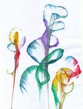 Art Abstract Flowers royalty-vrije illustratie