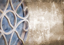 Art abstract grunge brown background with architectural art deco element Royalty Free Stock Photography