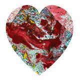 Art Abstract Heart Fotografia Stock Libera da Diritti