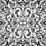 Art abstract irregular web marble print template in black and white. Seamless pattern. Vector. Stock Images