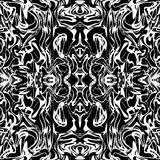 Art abstract irregular web marble print template in black and white. Seamless pattern. Vector. Royalty Free Stock Photography