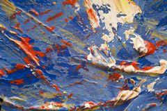 Art abstract. Multi colored art close up texture abstract Royalty Free Stock Images