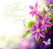 Art Abstract spring floral background for design
