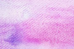 Art abstract ultra violet watercolor painting design textured on. White paper background Stock Images