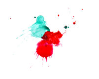 Art abstract water-coloured painted blot. Stock Photos