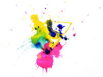 Art abstract water-coloured painted blot. Stock Photography