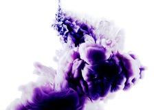 Art abstrait blanc pourpre Images stock