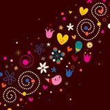 Art abstrait d'harmonie d'amour de nature rétro illustration de vecteur