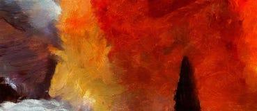 Art abstrait de texture d'impression Bacground lumineux artistique barre Illustration de peinture à l'huile Papier peint moderne  illustration libre de droits