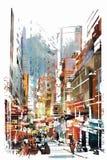 Art abstrait du paysage urbain Image libre de droits
