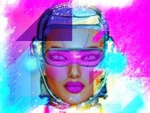 Art abstrait, fille de robot Images libres de droits