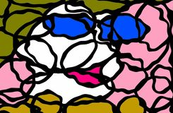 Art abstrait : Madame des cercles image stock