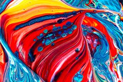 Art of acrylic color painting. Abstract background royalty free stock photography