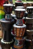 Art africain sur des tambours photographie stock libre de droits