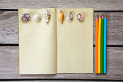 Art album and color pend Stock Image