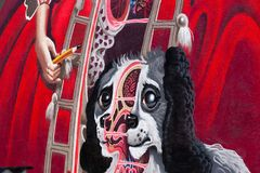 Art allemand de rue de Wilhelmine- - Bayreuth Images stock
