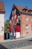 Art allemand de rue de Wilhelmine- - Bayreuth Photo libre de droits