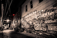 Art Alley. In Rapid City Royalty Free Stock Images