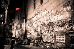 Art Alley. In Rapid City Stock Image