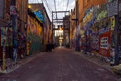 Art Alley Rapid City SD stock image