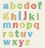Art alphabet Royalty Free Stock Images