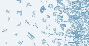 Art alphabet card Stock Image