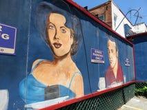 Art américain de mur de wagon-restaurant de ville dans le Washington DC images stock