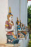 The art of angel sculpture Thai Lanna style for church decorated Stock Photos