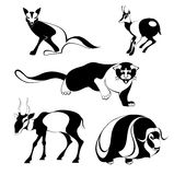 Art animal silhouettes Stock Photo