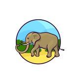 Art animal, style mignon de bande dessinée Photo stock