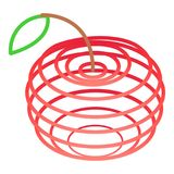 Art apples icon, isometric 3d style Stock Images