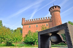 Art and architecture in Park of Valentino. Turin Royalty Free Stock Photo
