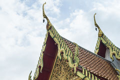 Art and architecture of Thai temple. Roof Royalty Free Stock Image