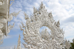 Art. Architecture in the Wat Rong Khun stock photo
