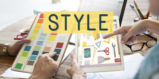 Art Art Technique Concept de capacité de compétence de talent de style images stock