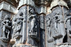 beautiful stone carving at arthuna temple.  Royalty Free Stock Photography