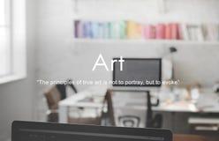Art Artwork Craft Creative Abstract-het Concept van de Stijltentoonstelling Stock Afbeelding