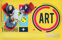 Art Artwork Creation Creative Hobby-Konzept Stockfotografie