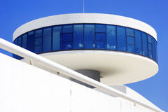 Art in Asturias c. Modern architecture in a sunny day Royalty Free Stock Photo