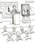 Art Auction Royalty Free Stock Image