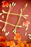 Art autumn background Stock Images