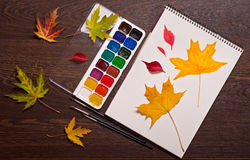Art autumn concept Stock Image