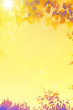 Art autumn  leaves background Royalty Free Stock Photo