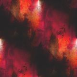 Art avant-garde background red, yellow hand paint. Seamless wallpaper watercolor abstract Royalty Free Stock Photo