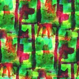 Art avant-garde hand green, red paint background Royalty Free Stock Photos
