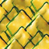 Art avant-garde hand paint yellow, green Stock Photos