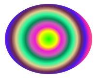 art b concentric gradient multicolor pop Στοκ Φωτογραφία