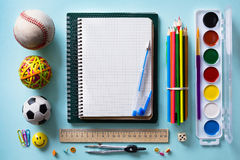 Art Back to school background Stock Images