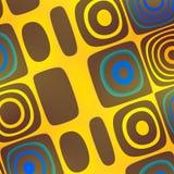 Art Background abstracto azul amarillo - enrrollado Imagen de archivo libre de regalías